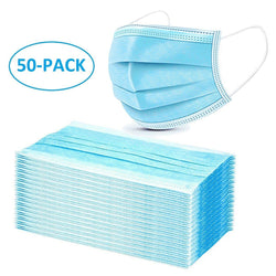DISPOSABLE FACE MASK 50pcs 3-Ply Ear-loop