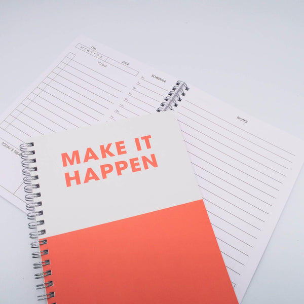 Make it Happen - A5 Daily List Planner Art Print, Stationery- Soul & Fire