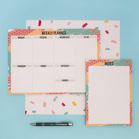 Memphis Stationery Bundle - Desk Pads & Notebooks - shop-alto