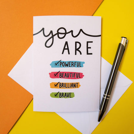 'You Are' Greeting Card Art Print, Stationery- Soul & Fire