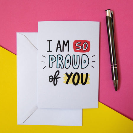 so proud of you greeting card