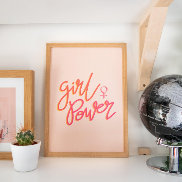 'Girl Power' A4 Print Art Print, Stationery- Soul & Fire