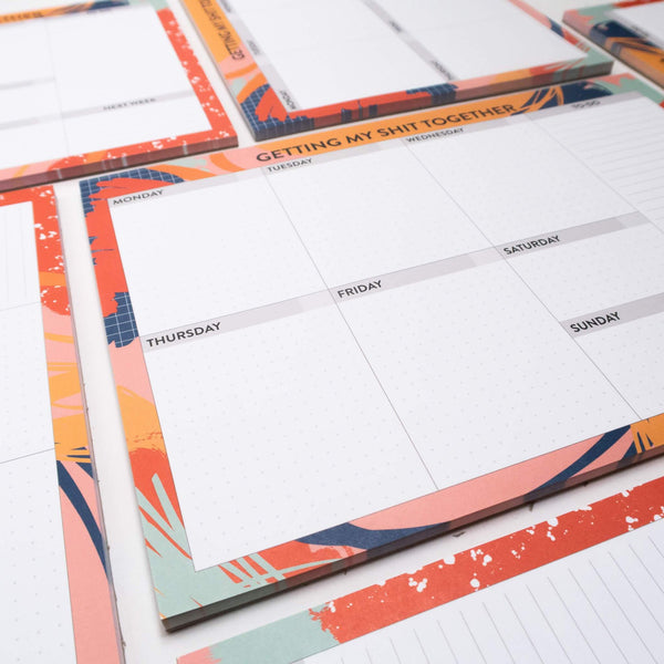 a4 weekly desk planner
