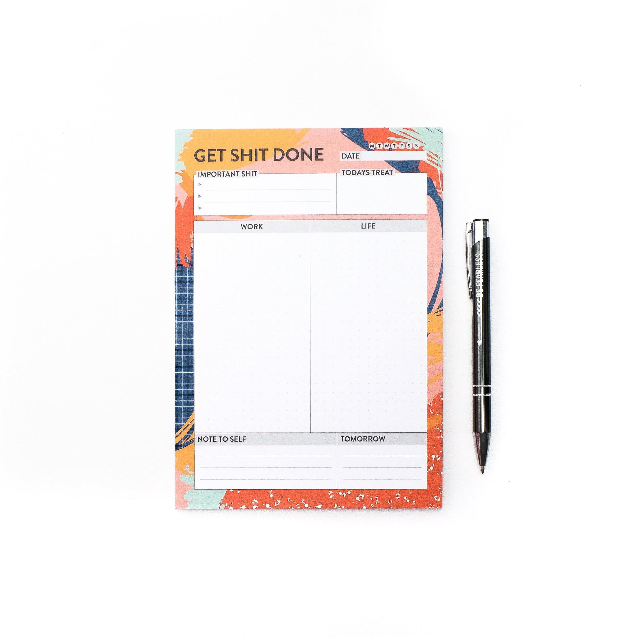 Get Sh*t Done - A5 Daily Planner Art Print, Stationery- Soul & Fire