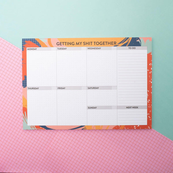 Get Your Sh*t Together - A4 Weekly Planner Art Print, Stationery- Soul & Fire