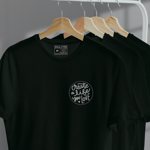 black tshirt with motive