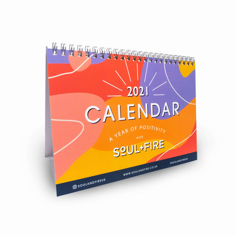 2021 Calendar - A Year of Positivity Art Print, Stationery- Soul & Fire