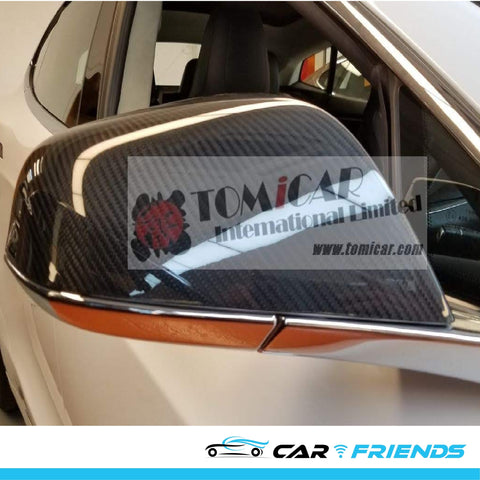 Model S 碳纖側鏡鏡殼 (Dry Carbon) - CarFriends Hong Kong