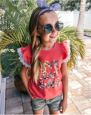 Girls' Ruffle Sleeve T-shirt
