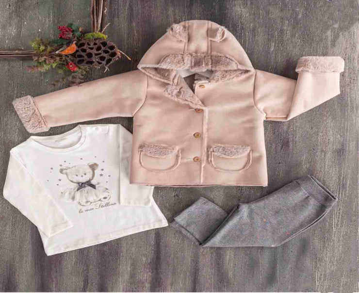 Girls Winter Coat with Pants