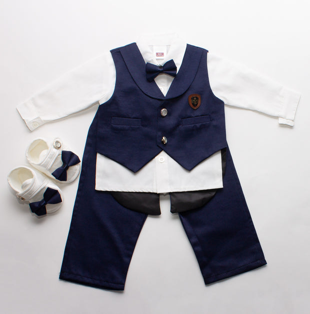 Newborn Navy Blue Bow Tie Set 0-3 months