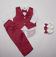 Baby Bow Tie Suit Set