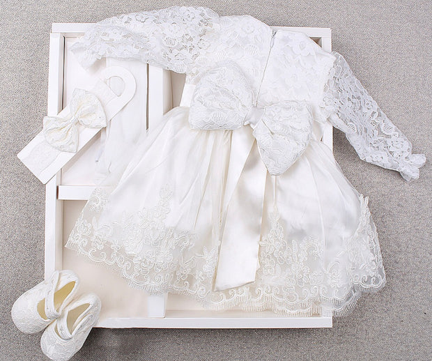 White Lacy Dress 0-3 months