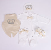 Baby Boys Beige Set