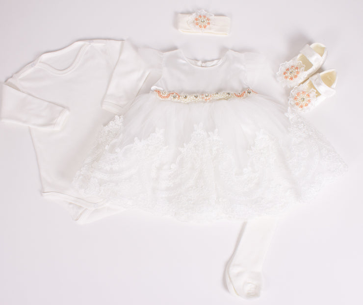 White Dress For Baby 0-3 M