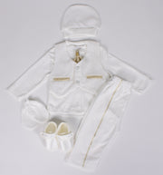 Newborn White Tie Set