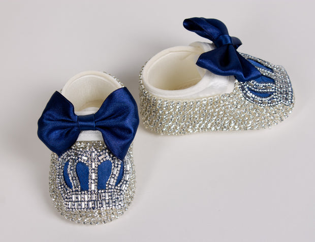 Dark Blue Baby Shoes