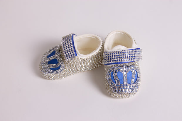 Royal Blue Crown Shoes