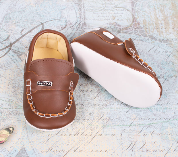 Boys Light Brown Shoes