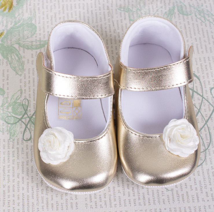 Baby Girls Silver Shoes