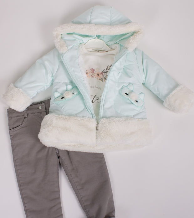 Girls Winter Jacket with Pants