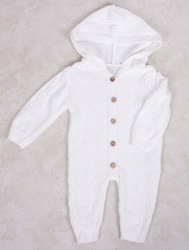White Knitted Jumpsuit