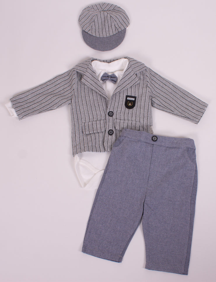 Baby's Gray Jacket Suit Set