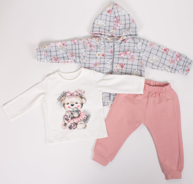 Baby Girls Long Sleeve Sweatshirt & Sweatpants