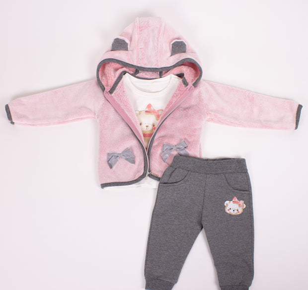 Girls Sherpa Hoodie and Sweatpants