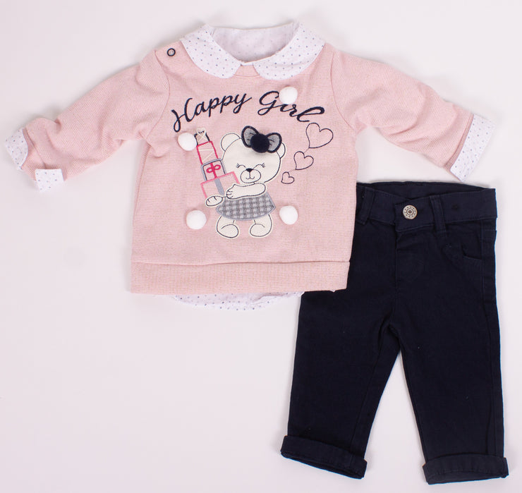 Girls 3 Piece Set Long Sleeve