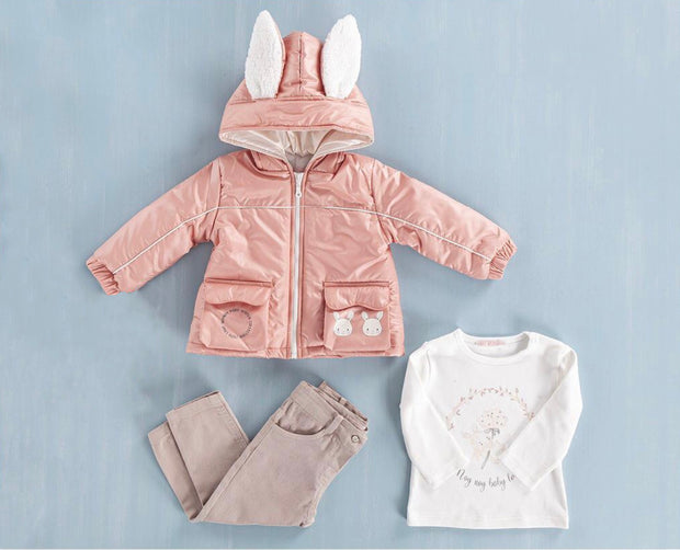 Girls Bunny Light Jacket Set