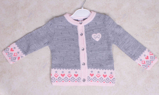 Girls Button-Up Cardigan Sweater