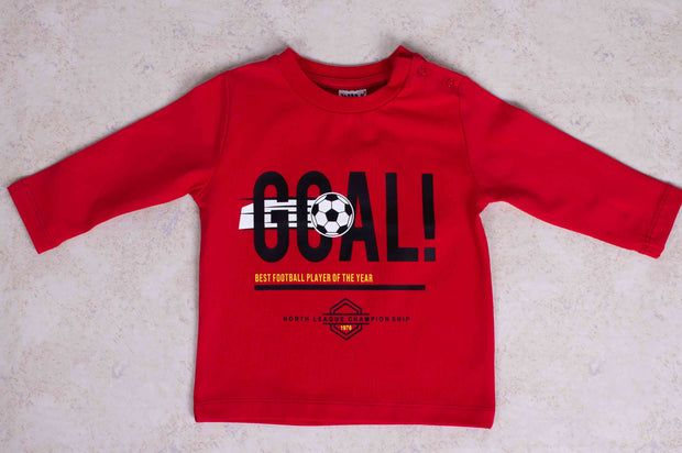 Goal Red T-shirt Long Sleeve