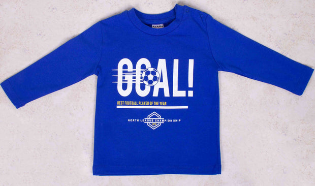 Boys Blue Goal T-shirt