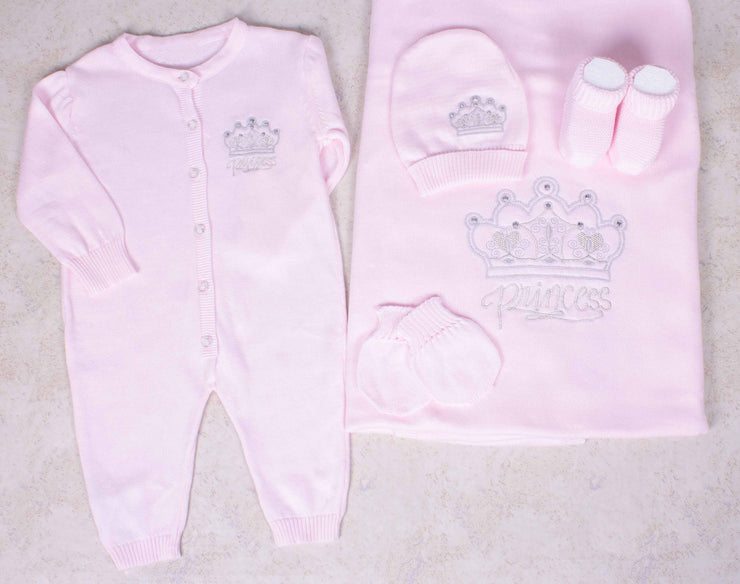 Newborn Baby Girl Knitted Set