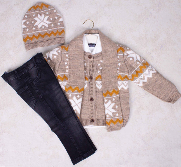 Boys Knitted 4 Piece Set