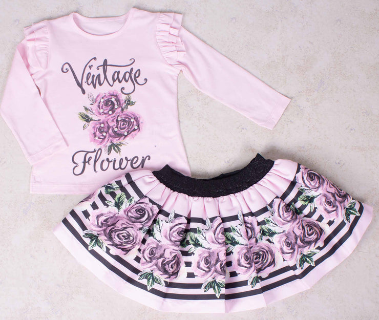 Girls Floral Set