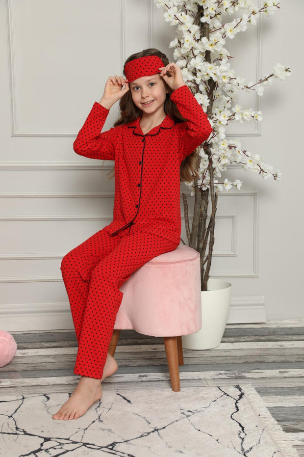 Girls Red PJs