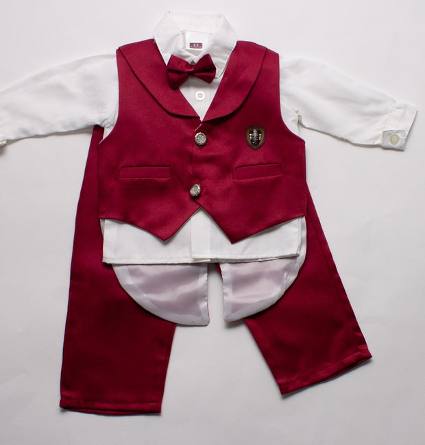 Baby Bow Tie Suit Set - Elma's Clothing