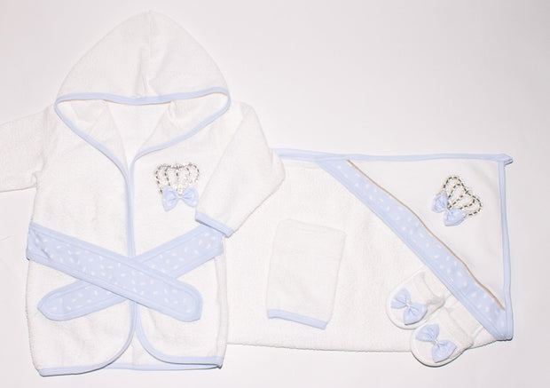 Baby Boys Crown Bathrobe Set - Elma's Clothing