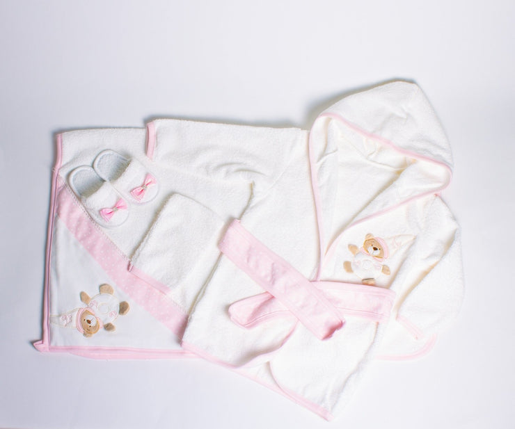 Baby Girls Bathrobe 4 Piece Set - Elma's Clothing