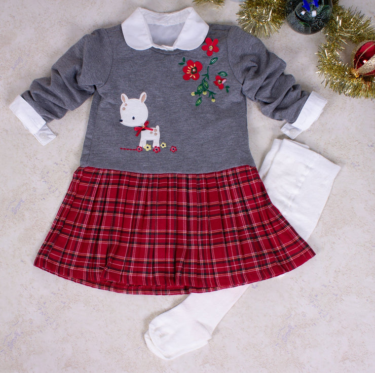 Baby Girls Long Sleeve 3-Piece Dress Set - Elma's Clothing