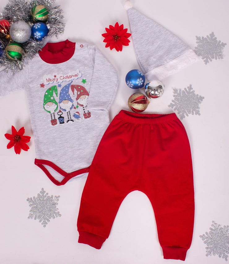 Baby's Christmas Bodysuit Set - Elma's Clothing