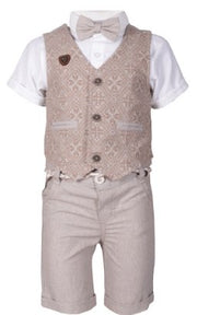 Boys' 4 Piece Set with a Vest - Elma's Clothing