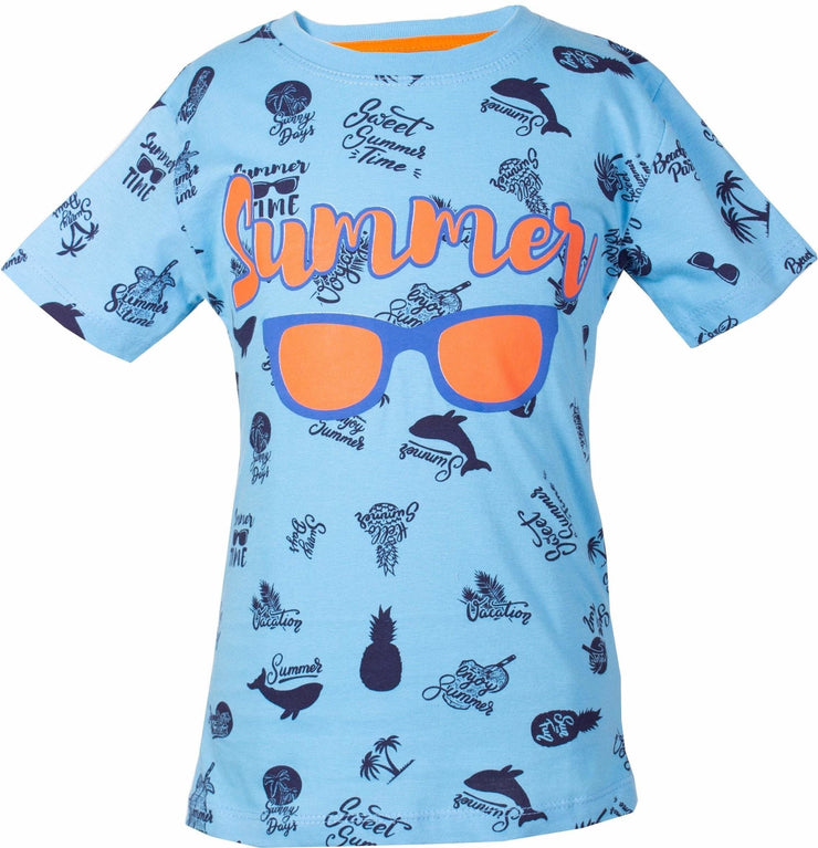 Boys' Blue Summer T-shirt - Elma's Clothing