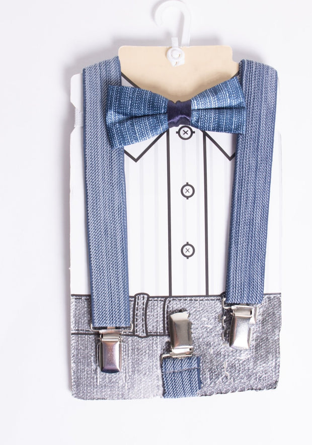 Boys Bow Tie & Suspenders - Elma's Clothing