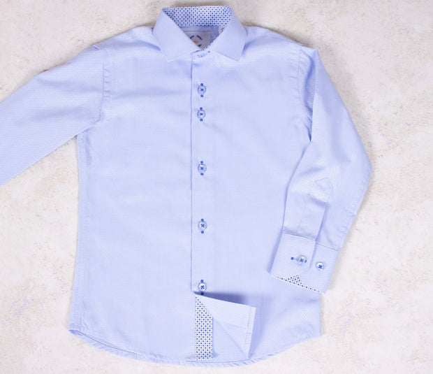 Boys' Button Down Light Blue Dress Shirt - Elma's Clothing