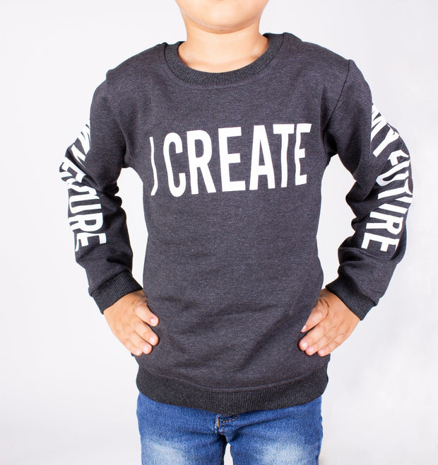 Boys' Dark Gray Sweatshirt - Elma's Clothing