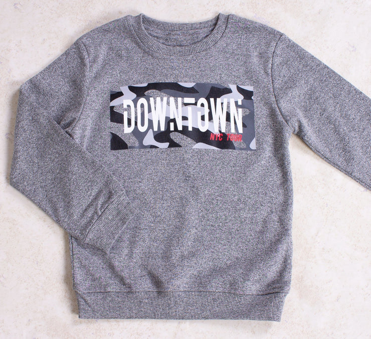 Boys' Gray Downtown Fall Sweatshirt - Elma's Clothing