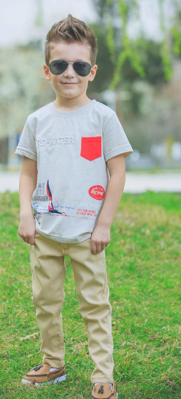 Boys' Short Sleeve T-shirt - Elma's Clothing